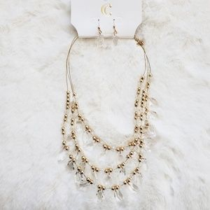 🍁Charming Charlie NWT Gold Statement Necklace Set